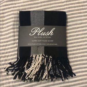 Plush Apparel plaid scarf
